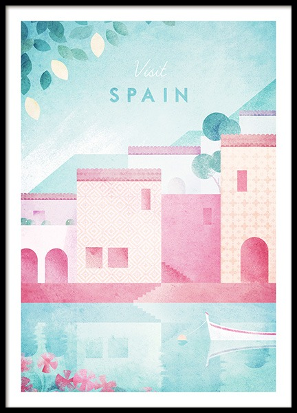Visit Spain Poster i gruppen Posters  / Handpicked / Henry Rivers hos Desenio AB (pre0044)