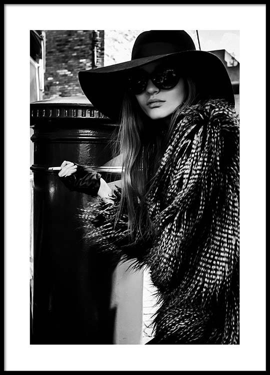 Lady In The Hat Poster ed698d4a87a02