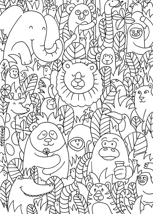 Jungle Friends Poster / Barntavlor hos Desenio AB (10205)
