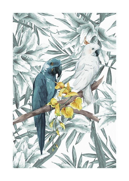 Tropical Bird No3 Poster / Djur hos Desenio AB (10650)