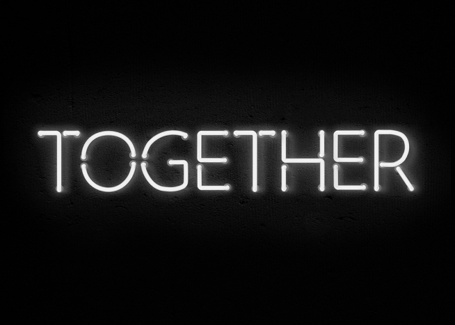 Together Neon Poster / Texttavlor hos Desenio AB (11059)