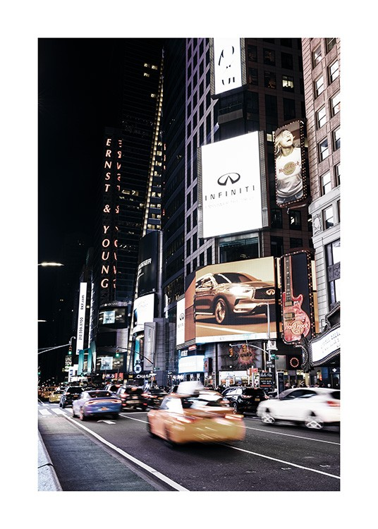 Times Square by Night Poster / Fotokonst hos Desenio AB (11322)