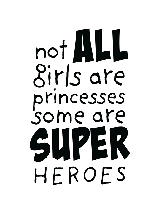 Girls are Superheroes Poster / Barntavlor hos Desenio AB (11905)