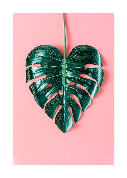 Heart-Shaped Monstera Poster / Botaniska hos Desenio AB (12524)
