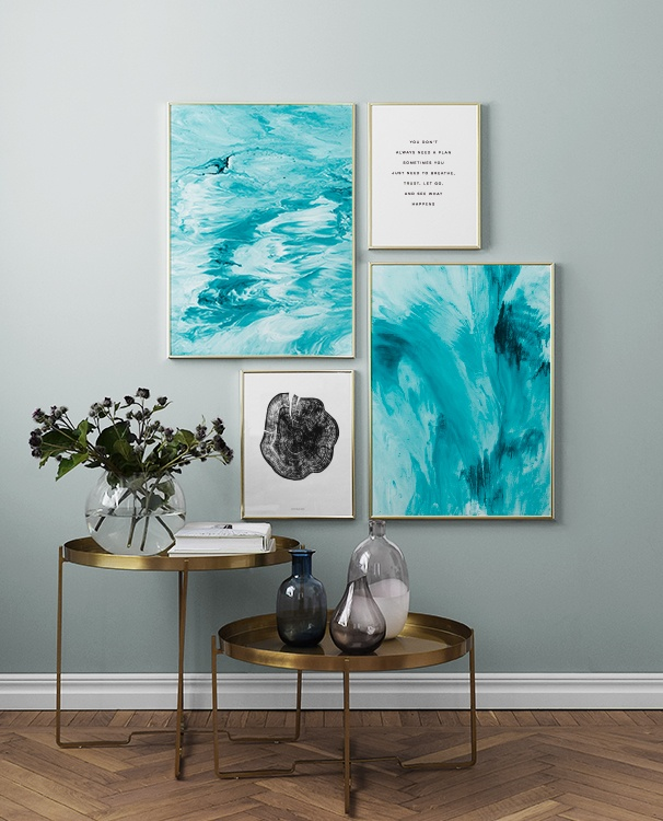 Abstract ocean Poster - Handla posters online på Desenio