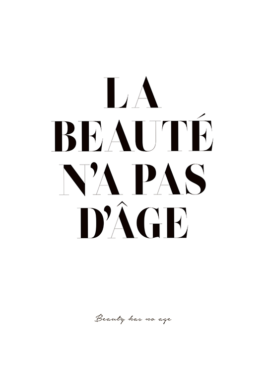 Beauty Has No Age Poster / Texttavlor hos Desenio AB (2598)