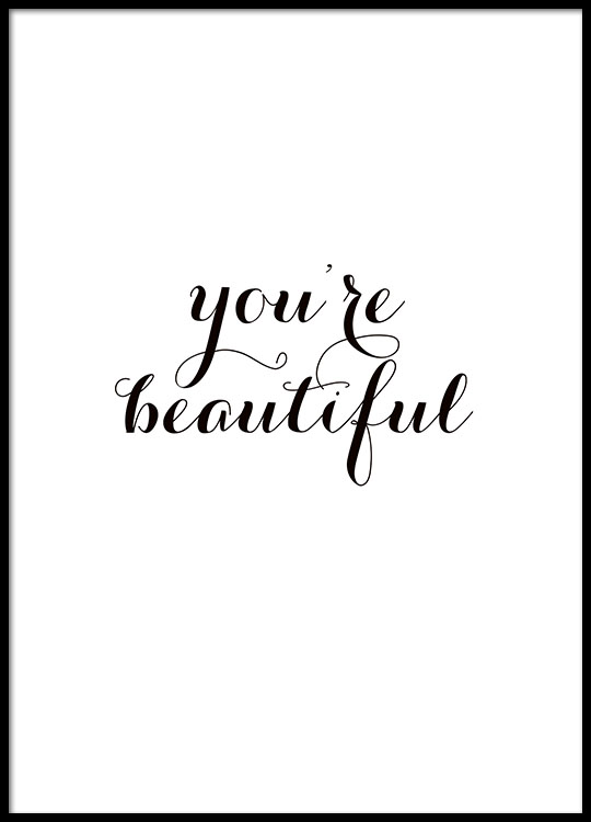 texttavla youre beautiful sm229 posters