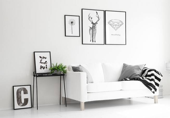 poster med diamant snygga svartvita tavlor med diamanter prints och planscher online. Black Bedroom Furniture Sets. Home Design Ideas