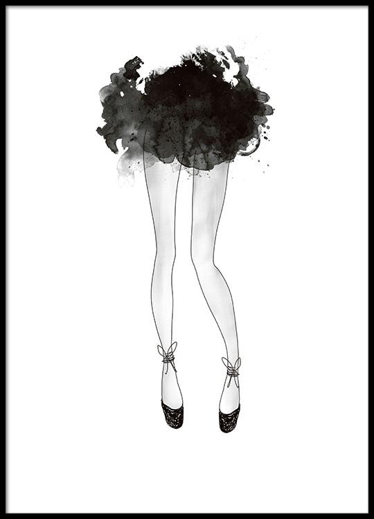 fashion poster ballerina tavlor prints och affischer. Black Bedroom Furniture Sets. Home Design Ideas