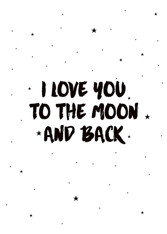 Moon And Back Poster / Barntavlor hos Desenio AB (7786)