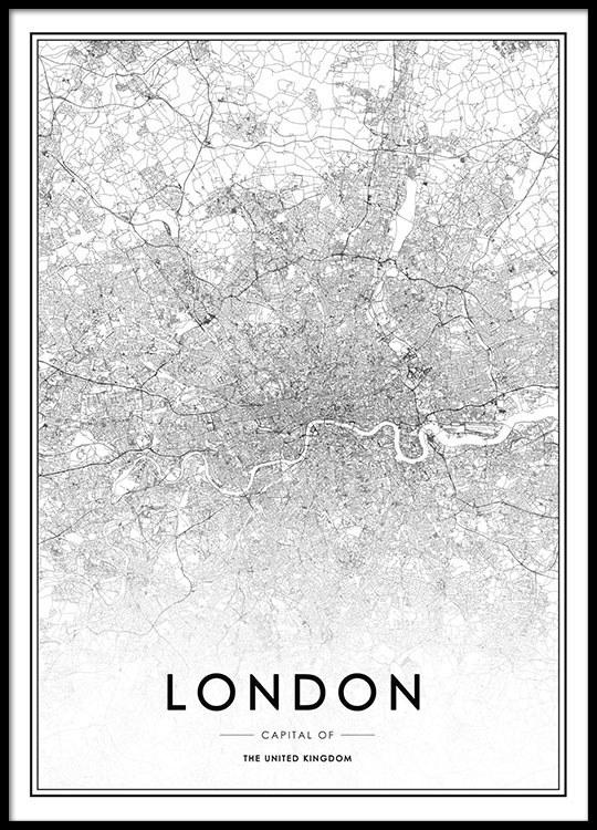 tavla london karta Poster, tavla med London karta   Affisch   Desenio.se tavla london karta