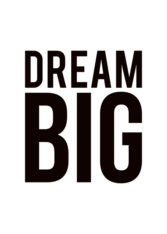 Dream Big Poster / Texttavlor hos Desenio AB (8199)