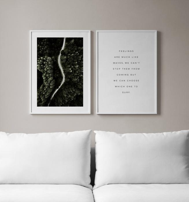moderna tavlor med text
