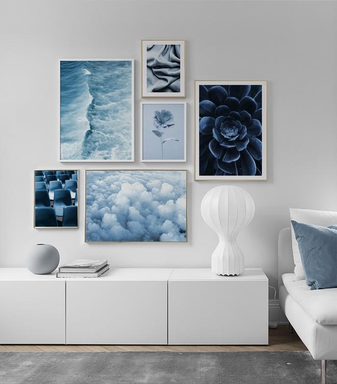 Fotoposters i blåa nyanser