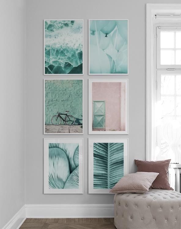 Fotoplanscher i mintgrönt