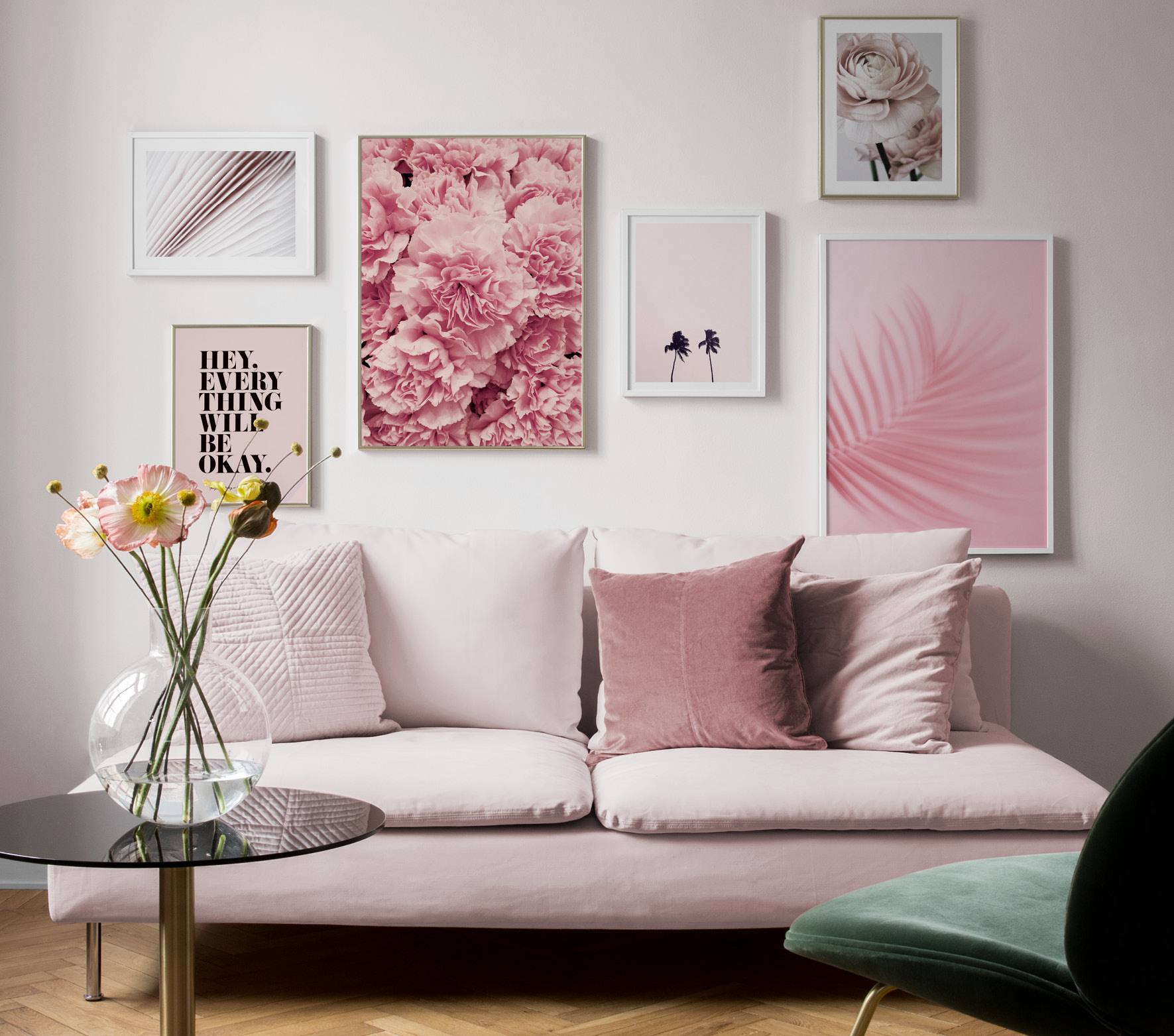 Living Room As Art Gallery: Picture Wall Inspiration For Living Room