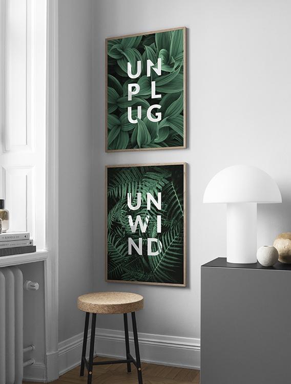 Grafiska tavlor Unplug & Unwind