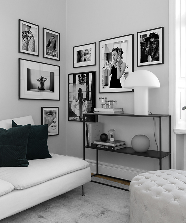 inspiration f r deko und bildercollagen in schwarzwei desenio. Black Bedroom Furniture Sets. Home Design Ideas