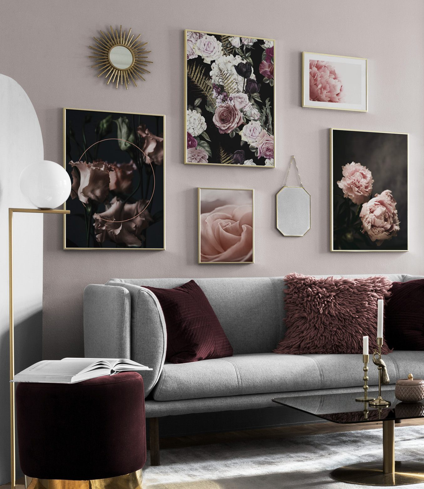 wall in living room picture wall inspiration for living room posters desenio 13663