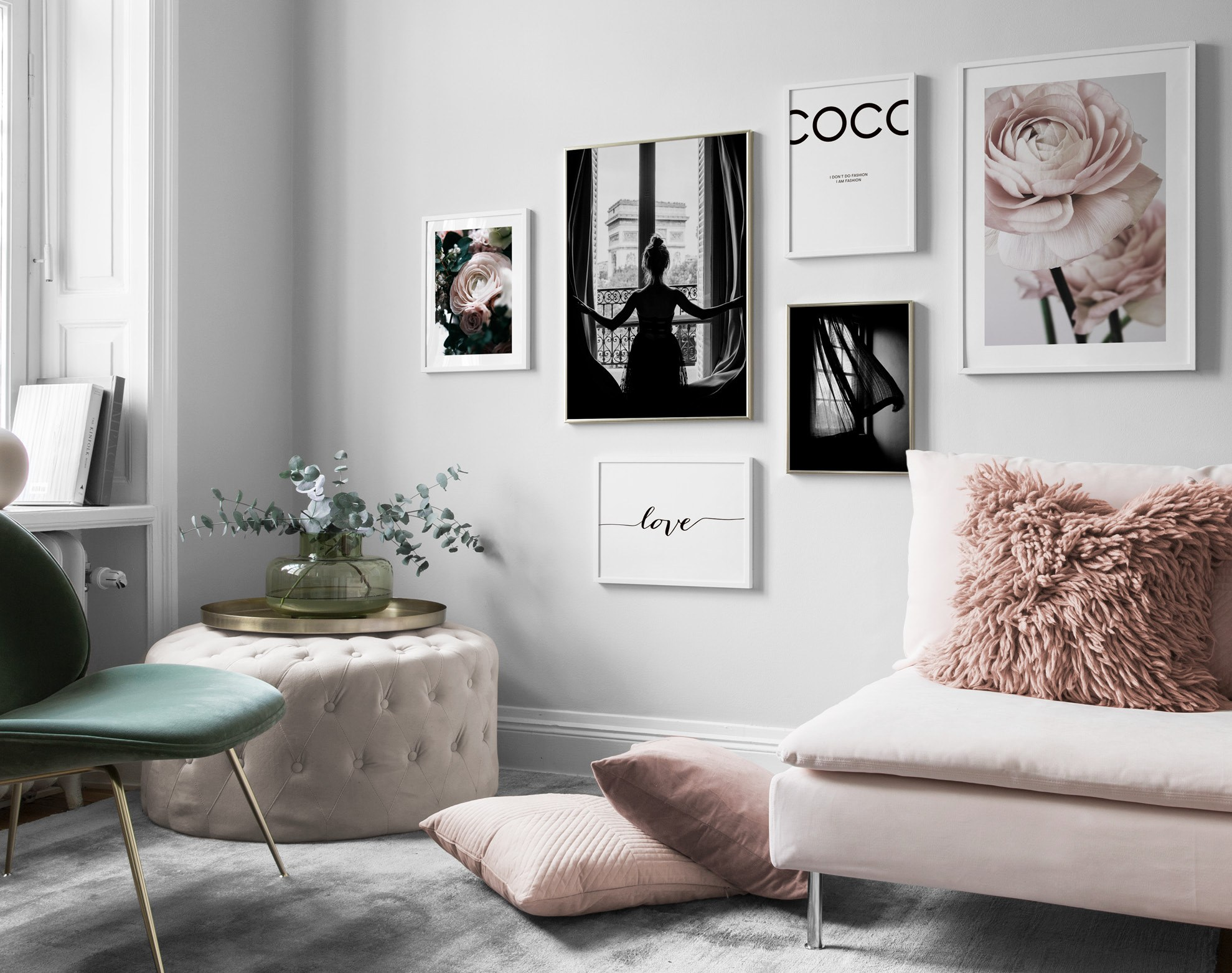 Picture wall inspiration for living room Posters