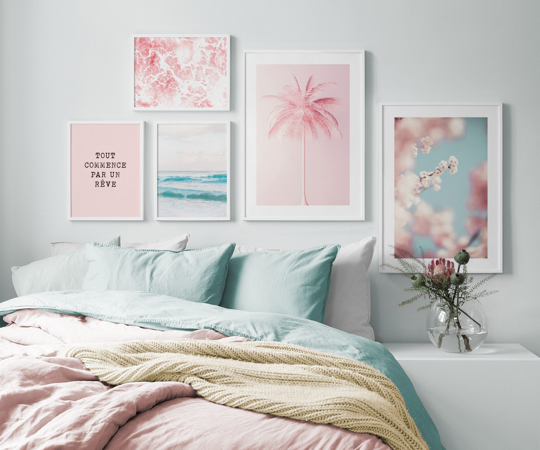 Bedroom Inspiration - Posters And Art Prints In Picture Walls