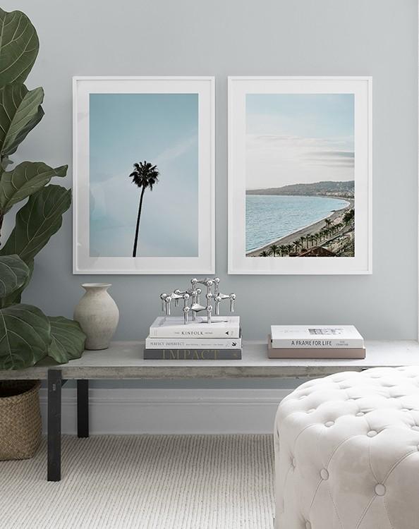 Posters med semesterbilder från Nice Frankrike