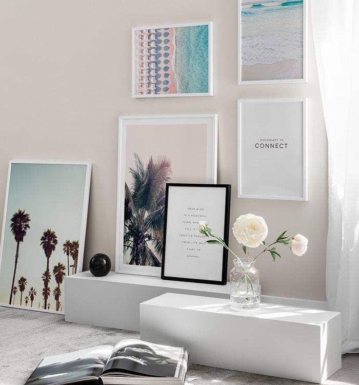 Inspireras av ett ljust vardagsrum med pastellfärger