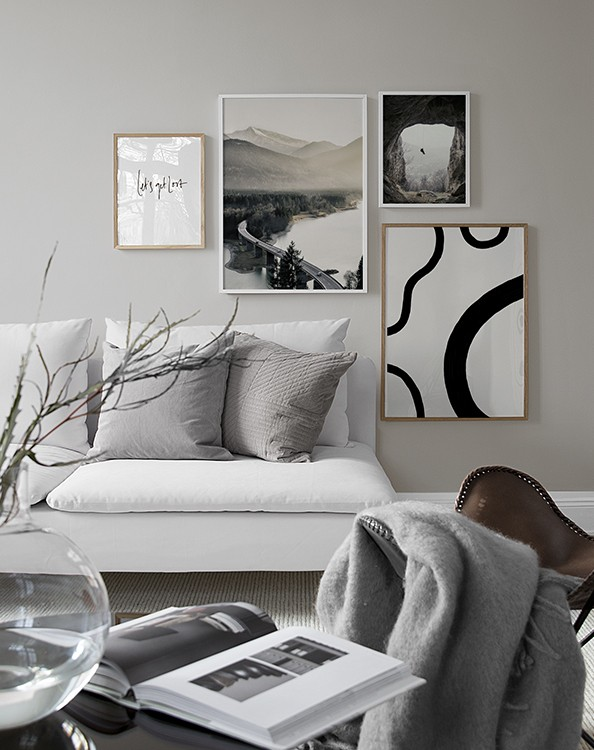 Picture wall Inspiration for living room | Posters | Desenio