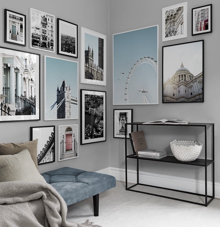 inspiration pour murs et collages de tableaux suspension de tableaux. Black Bedroom Furniture Sets. Home Design Ideas