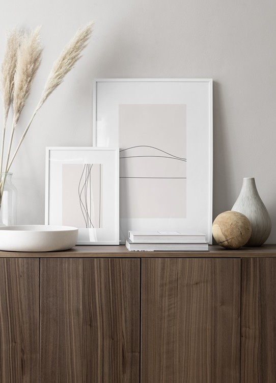 Fint tavelpar med minimalistisk linjekonst, inspiration till sovrum