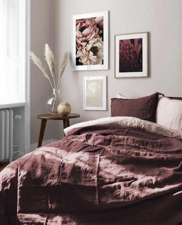 Design Inspiration und Poster Bilderwand im Schlafzimmer | Desenio