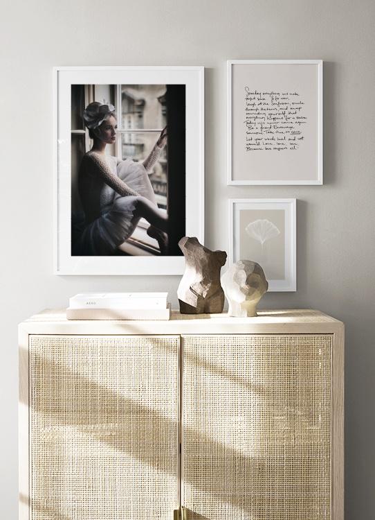 Inspiration litet tavelkollage i beigea neutrala toner