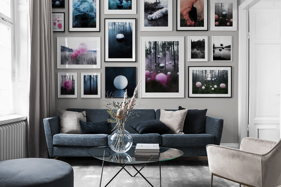 SURREAL FINE ART MEETS MODERN HOMES