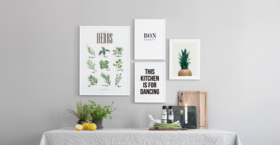 kitchen wall art and posters for the kitchen at. Black Bedroom Furniture Sets. Home Design Ideas