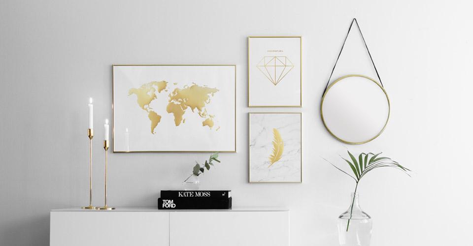 gold silber kupfer bilder online kaufen metallic poster