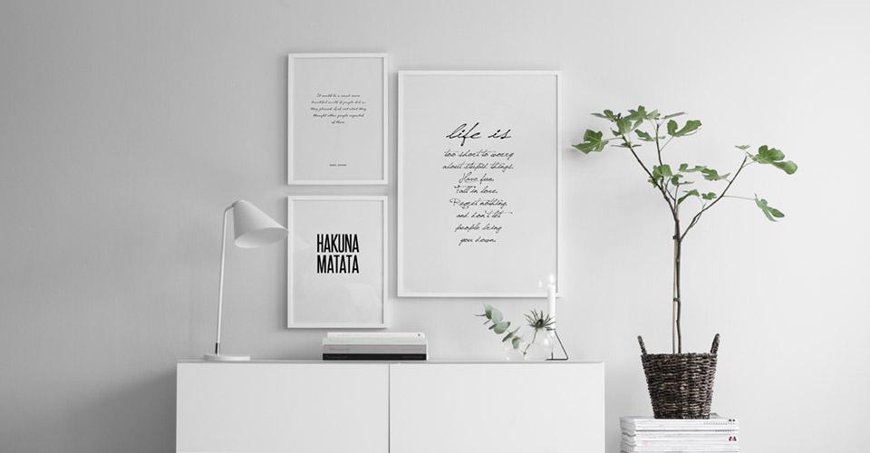Typografie Poster | Bilder mit Sprüche | Motivationsposter | Desenio